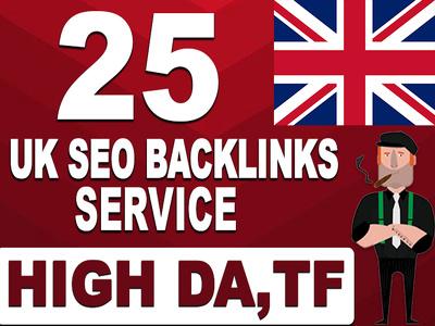 Make 25 permanent UK backlinks with high da tf sites