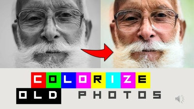Fill colors in old black and white 10 photos