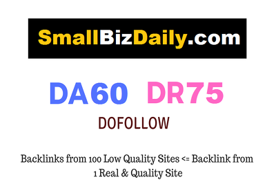 Guest Post on SmallBizDaily.com - DR75 - Dofollow