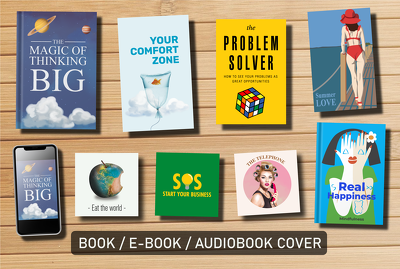 Design a professional book, ebook, or audiobook cover