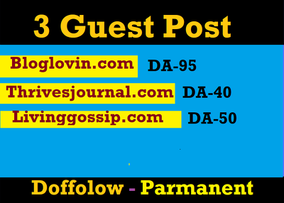 Do Dofollow high authority Guest Post DA 95 On Bloglovin.com