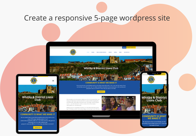 Create a responsive 5-page wordpress site (with Design from us)