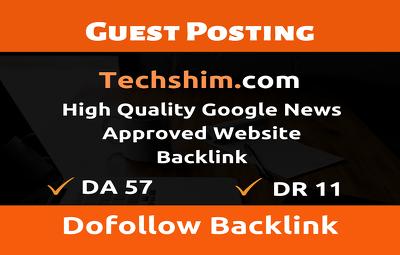 Guest Post on Techshim.com - Techshim - Do Follow