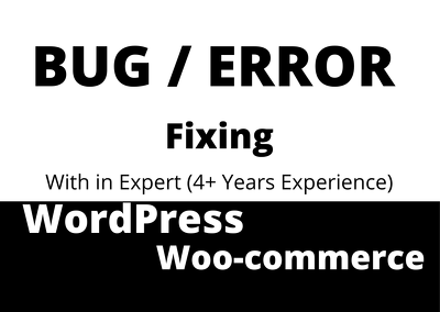 Fix WordPress bugs, errors or technical problems within 1 day.