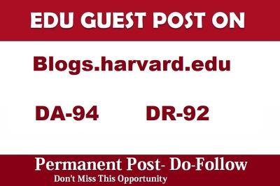 Guest Post on Harvard edu - Blogs.Harvard.edu DA 94 University