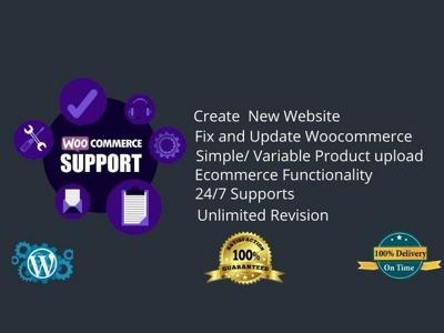 Build your woocommerce wordpress website, fix and update woocomm