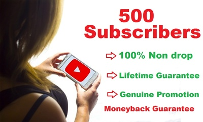 Add 500 real & active YouTube Subscribers to your channel