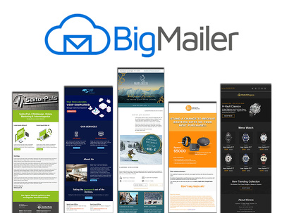 Develop responsive bigmailer email template or newsletter