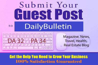 Publish Guest Post on DailyBulletin.com.au - DA32