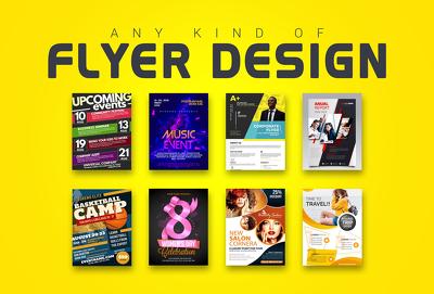 Design any flyer, poster or leaflet for you