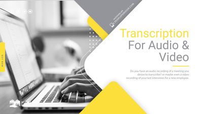 Transcribe your Audio  and Video recordings