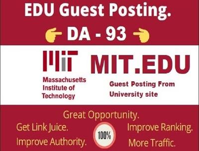 Publish DA 93 strong edu guest post on Mit.edu