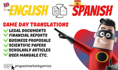 Do PERFECT English to Spanish or Spanish to English translation