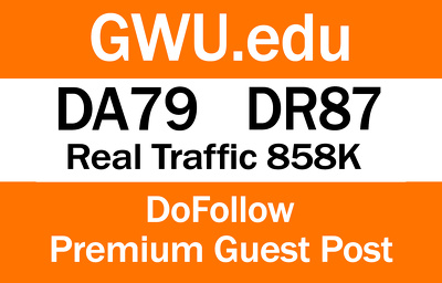 Write And Publish Guest Post On GWU.edu   DA79