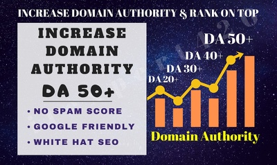 Increase Your Domain Authority Up To 50+ & Rank On TOP!
