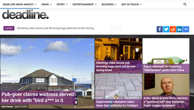 Able to publish content on deadlinenews.co.uk (DA-89, PA-69)