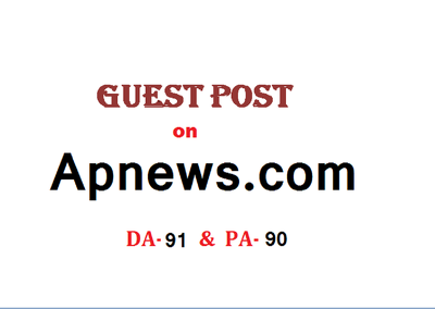 Able to publish Guest post/press release on Apnews.com DA-91