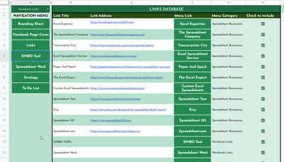 Create a Dynamic Links Menu in your Google Sheets