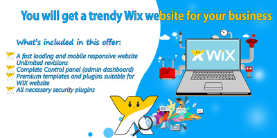 You will get a trendy Wix website for your business