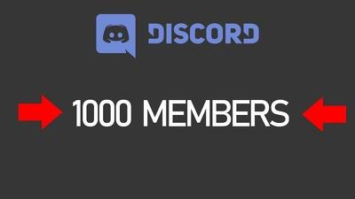 ADD 1000 Discord Members