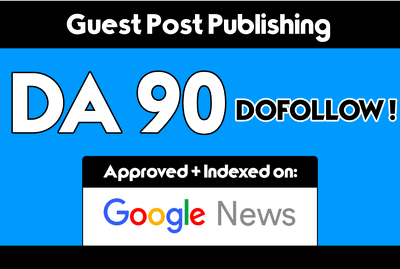 Guest post on my da 90 google news blog with dofollow backlink