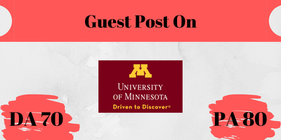 Premium Guest Post on UMN University - UMN.edu DA 91
