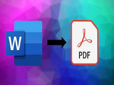 Convert PDF to word, excel, power point,WORD TO PDF