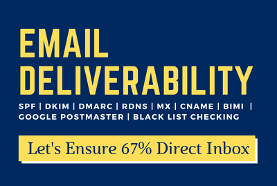 Fix email deliverability records to ensure direct inbox