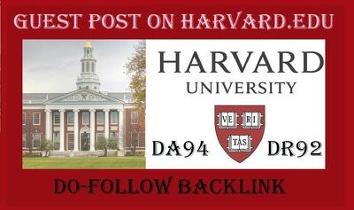Publish guest post on harvard . edu USA university site da 94