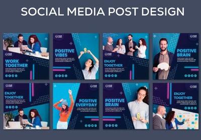 Design 10 social media posts