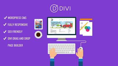 Design website using Divi Theme/Builder