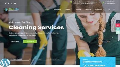 Make cleaning booking service WordPress website