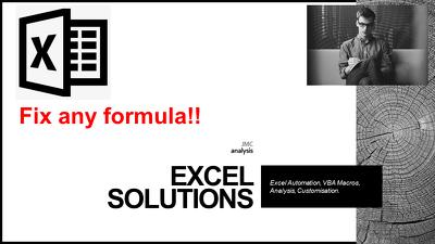 Fix or write you a formula