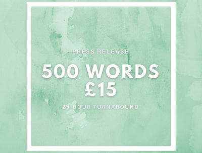 Write a 500 word press release