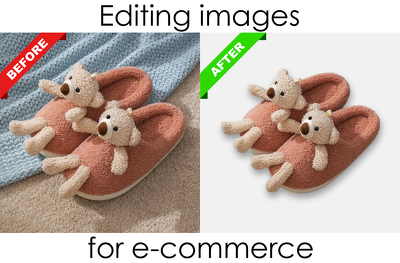 Editing images for e-commerce (20 images)