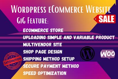 Design ecommerce online store or ecommerce website