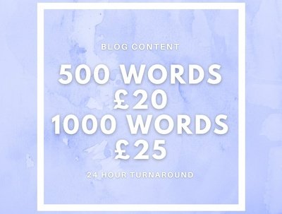 Write a 500 word blog for your website