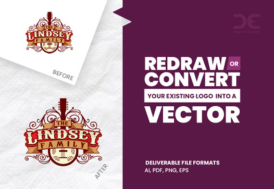 Redraw or convert your existing logo into a vector