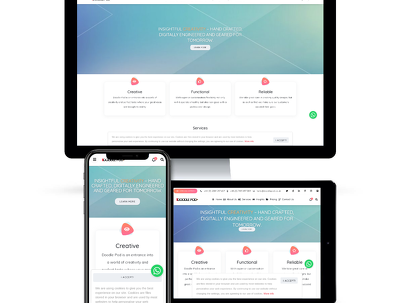 Create a responsive 5 page website