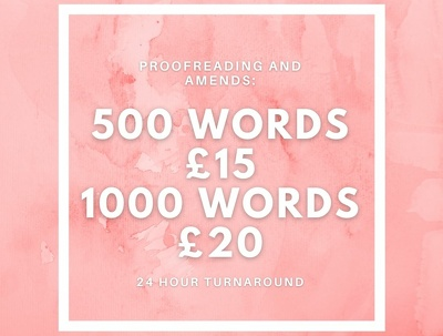Proofread 500 words