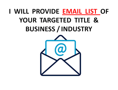 Do b2b lead generation, email list building (100 Lead)