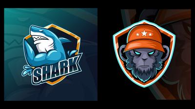 Make premium mascot character logo for esports, youtube, Gaming