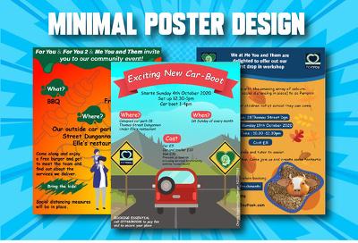 Make you an amazing minimal poster design