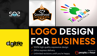 Logo Design for Business with Unlimited Revisions - 24h Delivery