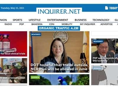 Guest Post on News Site Inquirer/Inquirer .net DA 88-Traffic 42M