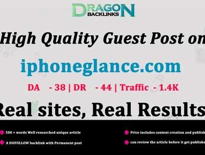 High Quality Guest Post on iphoneglance.com|iphoneglance