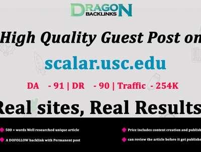 High Quality Guest Post on scalar.usc.edu | EDU links