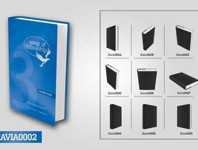 Turn your flat book cover into 3D (More 3 mockups)
