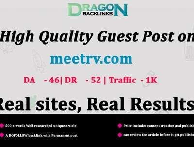 High Quality Guest Post on meetrv.com|meetrv