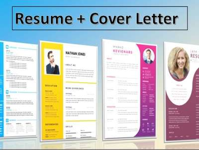 Design a professional resume or cover letter
